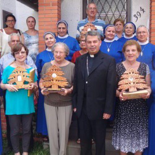 """Prise possession du centre """"Solar Monte Libano"""" avec la bénédiction et la présence de son Excellence Monseigneur Edgard MADI, l'évêque Maronite au Brésil, le 9 Février 2014."""